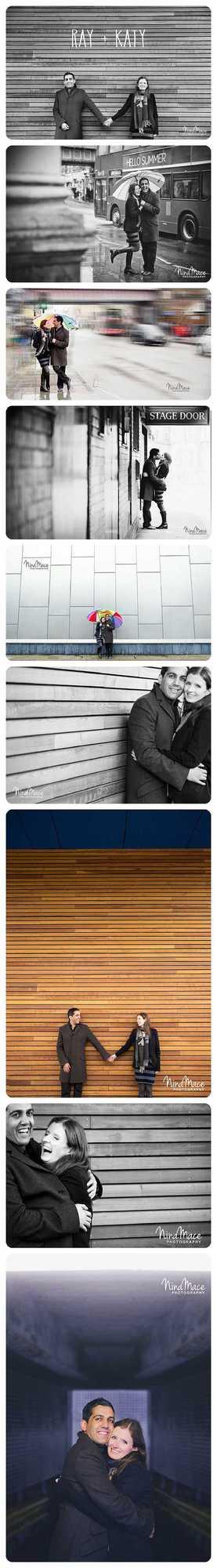 Engagement session in London moden fun photos taken by Nina Mace in Shepherds Bush