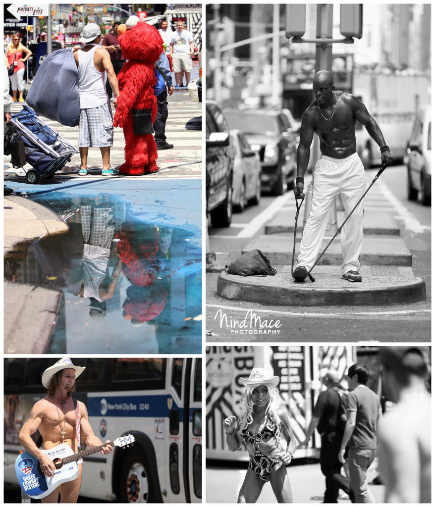 Naked cowboy in NY Times Square