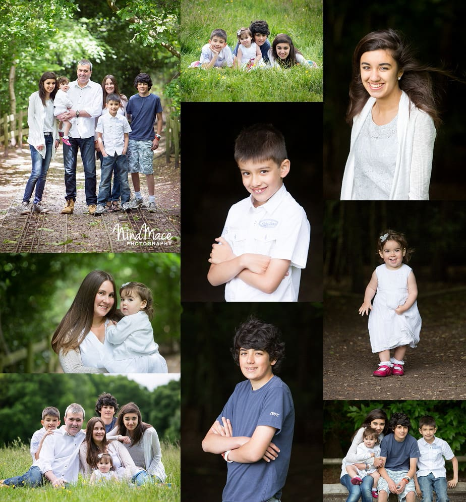 family photoshoot at Frimley Lodge Park