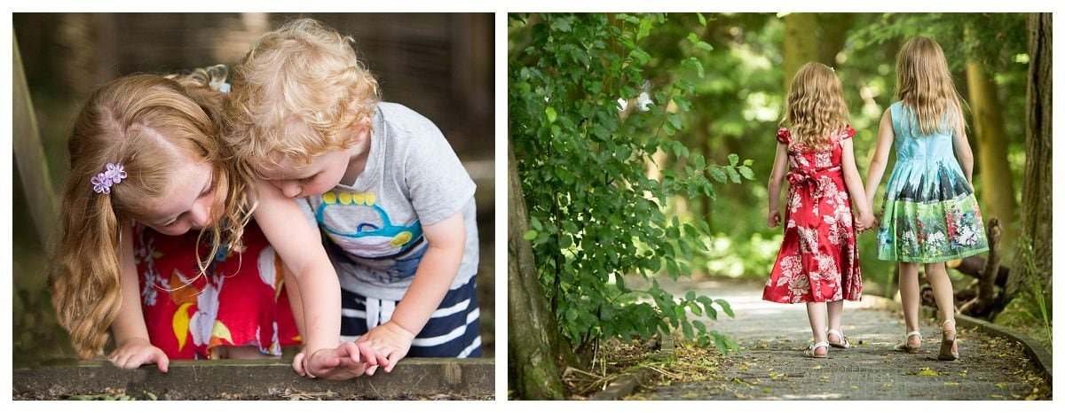 Fun outdoor photos with kids