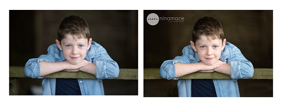 Before and after edit Nina Mace Photography