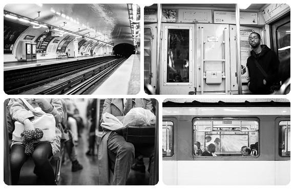 Street photography on the Paris Metro