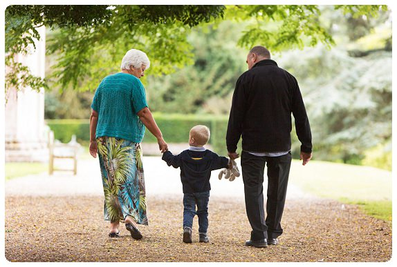 With granny and grandad