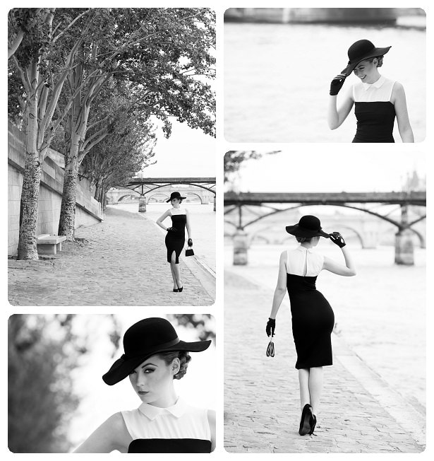 Chanel inspired shoot on the Seine