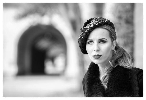 Angela Hudson modelling