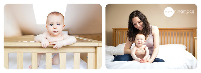 baby photos in cot