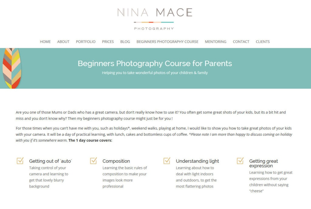 New 2015 Beginners Photography Course dates added!