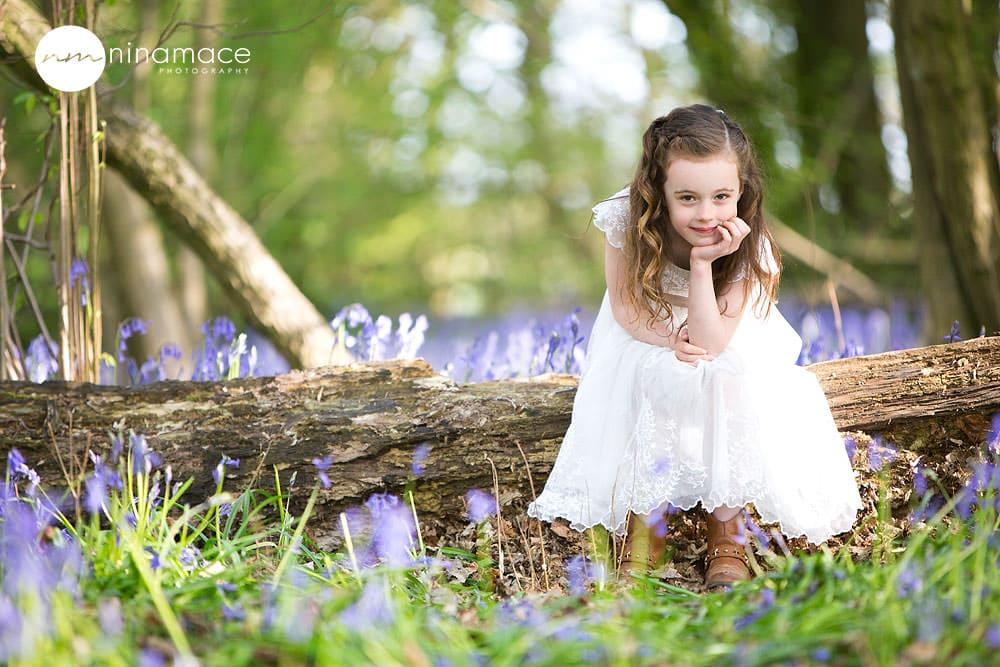girl in bluebells