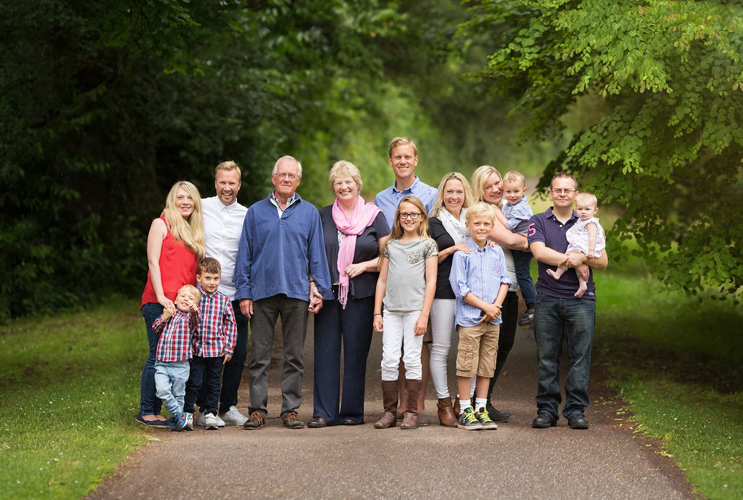 Extended family in photograph