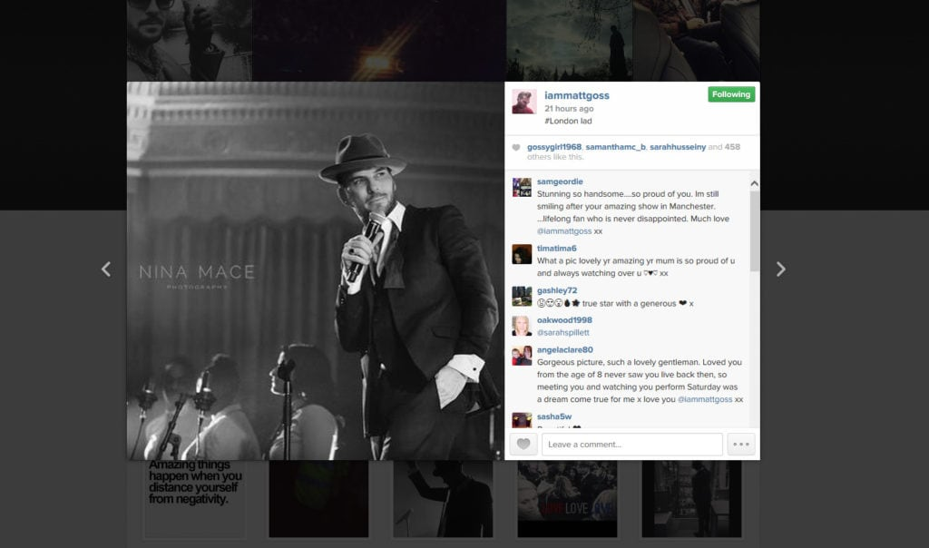 Matt Goss instagram