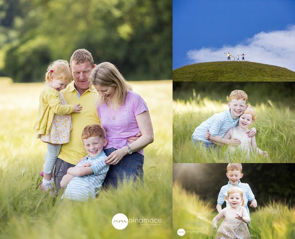 oudoor family photos field