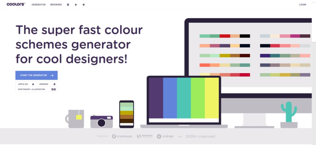 cooler colour generator for kids photography