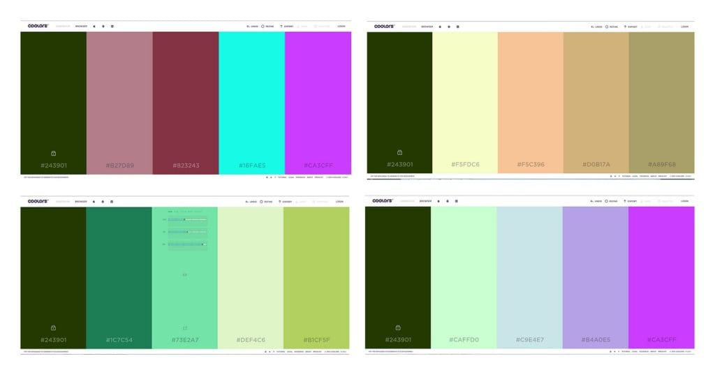 using colour pallete generators
