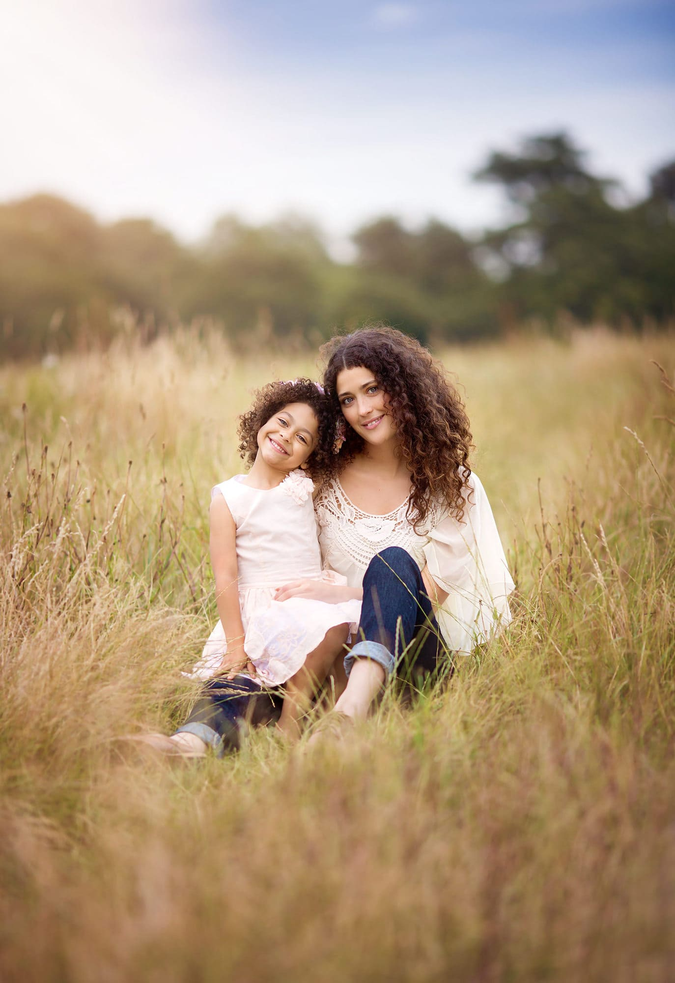 Mum and daughter outdoor photography
