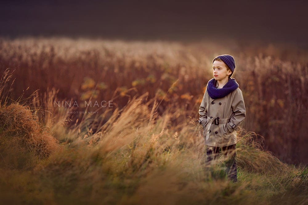 boy in Autumn colours
