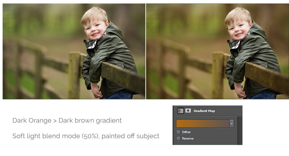 Using Gradient Maps to add warmth