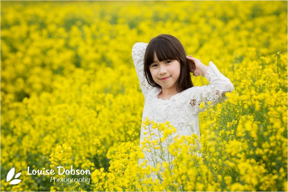 girl in yellow flowers