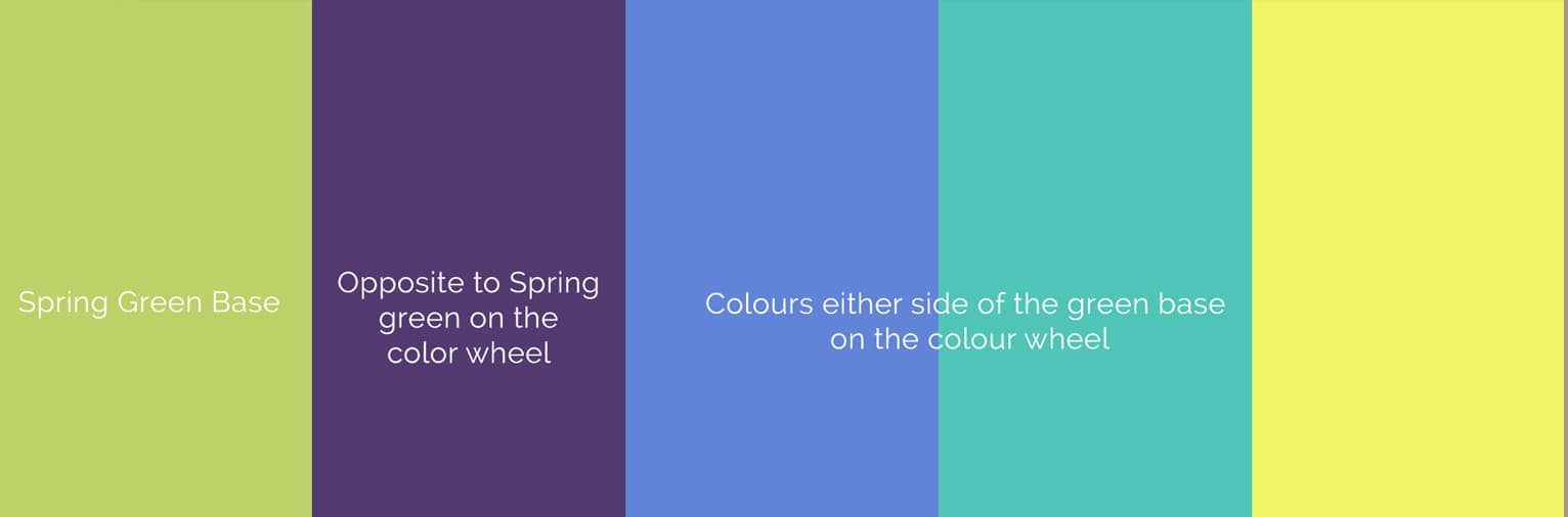 Complimentary colours to use on Spring shoots