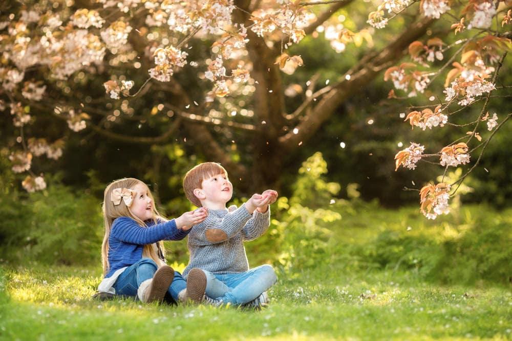 Children spring shoots
