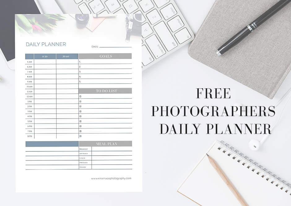 Free photographers daily planner & tips for refreshing your social media