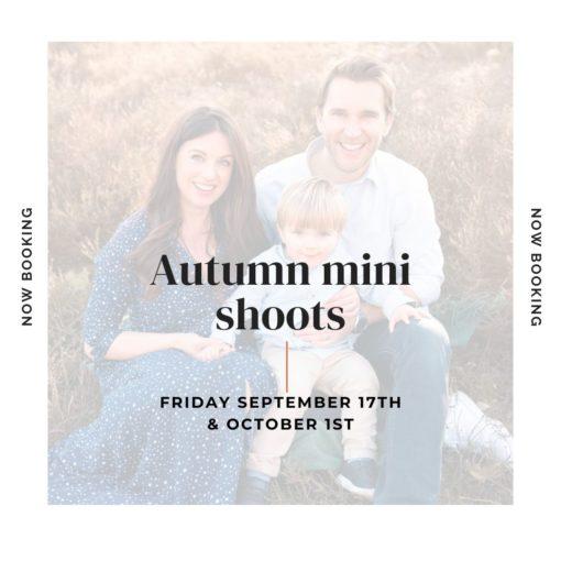 Autumn mini shoots with Nina Mace