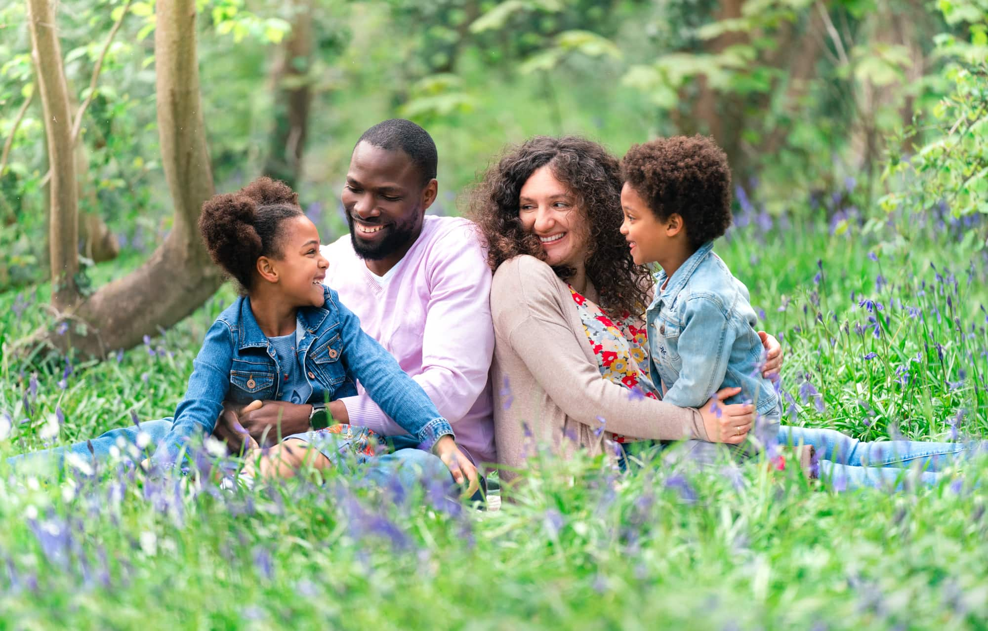 bluebell photography family shoot