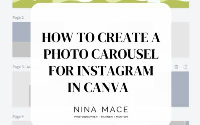 How to create a photo carousel for Instagram in Canva